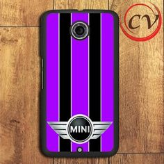 Purple Black Mini Cooper Nexus 5,Nexus 6,Nexus 7 Case