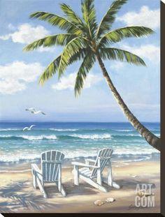 Hidden Beach Stretched Canvas Print by Sung Kim at Art.com