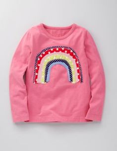 Rainbow shirt from Boden.  I've been thinking about a rainbow in freezer paper stencil, but applique could be cute too.