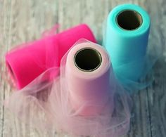 Tulle by the Roll - 25 yard spools for $2.69. Great for tutu dresses and crafting.