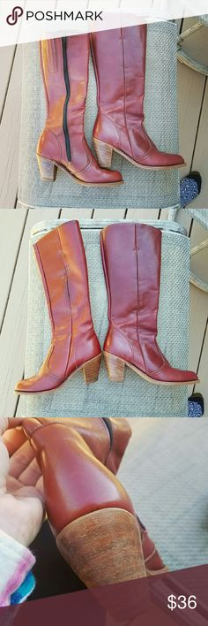 Beautiful Cherry Brown Heeled Dexter Boots! Size 6.5. In excellent condition. Two inch heel. Gorgeous with jeans! Very comfortable and made out of quality materials. OFFERS ARE WELCOMED! Dexter Shoes
