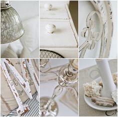 Shabby chic room detail. #white