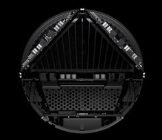 Apple Mac Pro 2013 cylinder-shaped desktop computer - bottom view inside