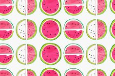 Margaret Berg : fruit fun I could edit both my watercolour and pen drawing motif together in one pattern