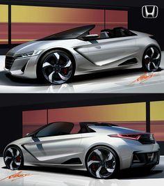 Honda S660 concept sketch.
