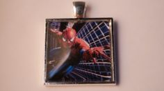 Spiderman Pendant.   £6.99 choose as a necklace or keyring. Ships worldwide.