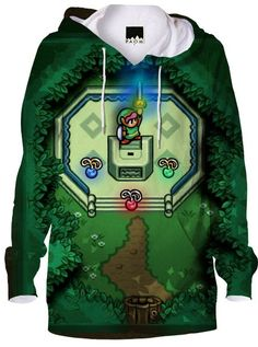 Go retro with this class master sword inspired hoodie.