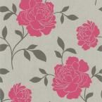 Beacon House 56 sq. ft. Zync Off-White Modern Floral Wallpaper-450-67324 at The Home Depot