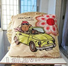 NICI Enjoying Sheep Cushion Pillow Summer Quilt Blanket Throws New Cute | eBay