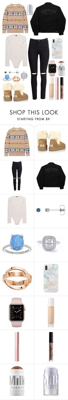 """Xmas sweater ❄️"" by isabelalalbarelli on Polyvore featuring Victoria Beckham, UGG, H&M, Versace Jeans Couture, Yeezy by Kanye West, SOPHIE MILLER, Tiffany & Co., Recover, Puma e NYX"