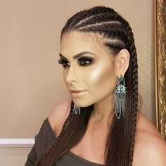 This would be great Powell hair! Cool Braid Hairstyles, Work Hairstyles, Baddie Hairstyles, Medium Hair Styles, Short Hair Styles, Natural Hair Styles, Braids For Short Hair, Stylish Hair, Love Hair
