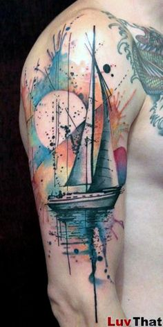 awesome Watercolor tattoo - 25 Amazing Watercolor Tattoos Check more at http://tattooviral.com/tattoo-designs/watercolor-tattoos/watercolor-tattoo-25-amazing-watercolor-tattoos-2/