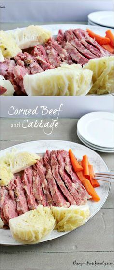 An easy and flavorful Corned Beef and Cabbage recipe that requires minimal ingredients and is easy enough that the even the most inexperienced cook with feel comfortable making it. Corn Beef And Cabbage, Cabbage Recipes, Cooker Recipes, Beef Recipes, Irish Recipes, Beef Dishes, Main Meals, Food Hacks, Holiday Recipes