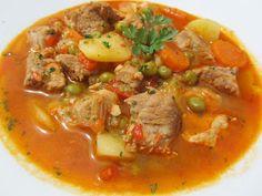 Estofado de cerdo y verduras Ana Sevilla cocina tradicional
