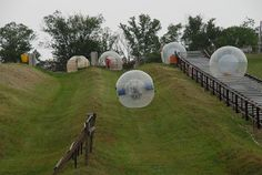 Take a trip to ZORB Smoky Mountains for a unique ride that features rolling fun inside a giant globe.