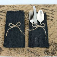 Burlap Placemat And Silverware Holder Silverware Holders Are Approximately 8 X 4 Inches In Size And Made From Burlap Silverware Holder Silverware Holder Burlap