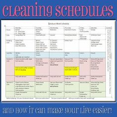 How a weekly cleaning schedule can make you feel more relaxed. :) #pullingcurls