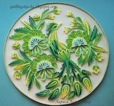 Fairy tale about quilling: Based on decorative painting