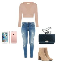A fashion look from December 2016 featuring long-sleeve shirt, distressed jeans and heeled ankle boots. Browse and shop related looks. Ted Baker, Yves Saint Laurent, Chanel, Shoe Bag, Polyvore, Stuff To Buy, Shopping, Shoes, Collection