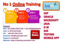 Acutesoft is a best source for e-learning, offer the latest online training and elearning courses. Join today and start learning from the list of courses online.
