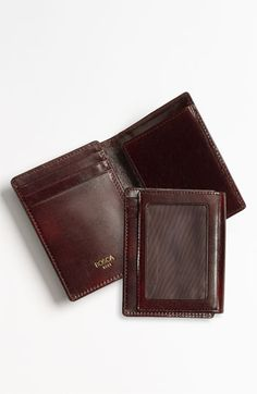 Bosca 'Hugo Bosca - Old Leather' Front Pocket ID Wallet available at #Nordstrom