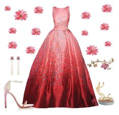 """Dream gown - Elie Saab 💞"" by anujabalaji ❤ liked on Polyvore featuring Elie Saab, Wendy Yue, Lorraine Schwartz, Carolina Bucci and Stuart Weitzman"