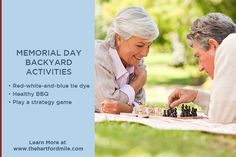 Get ready for Memorial Day by planning activities you can do in your own back yard that the whole family can enjoy.