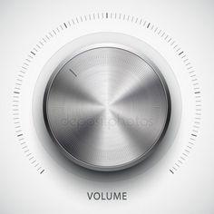 Technology volume button with metal texture - Stock Vector , App Ui Design, Mobile App Design, Vector Design, Icon Design, Ui Design Inspiration, Design Trends, Ui Buttons, Metal Texture, Lights Background