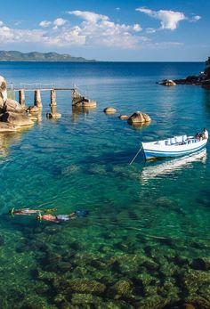 Get the snorkel out and float above thousands of colourful fish in Africa's great Lake Malawi. Timbuktu Travel.