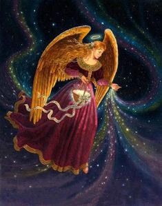 Beautiful Angel Art by Ruth Sanderson Angels Beauty, I Believe In Angels, Angel Pictures, Angels Among Us, Angels In Heaven, Guardian Angels, Angel Art, Christmas Angels, Merry Christmas
