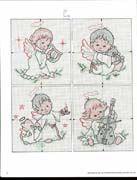 Schema punto croce Angioletti Natalizi 02