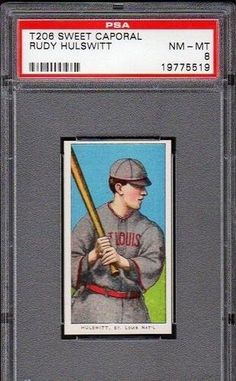 SUPERB T206 RUDY HULSWITT SWEET CAPORAL PSA 8 NM-MT ST. LOUIS BASEBALL CARD! by Where They Ain't. $4.85. SUPERB T206 RUDY HULSWITT SWEET CAPORAL PSA 8 NM-MT ST. LOUIS BASEBALL CARD!