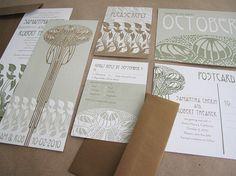 Art Nouveau Inspired Wedding Invitations