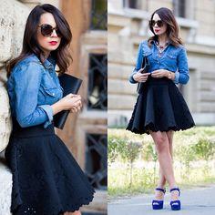 Mariann Mezo Sidibe - H&M Skirt, Saint Laurent - Embroidered Skirt