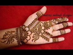 easy simple mehndi henna designs tutorials-Mehndi design for hands begineers - YouTube