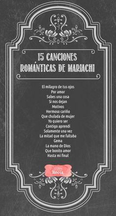 15 Canciones Románticas de Mariachi para la Boda | El Blog de una Novia | #boda #mariachi | Escucha la lista en: www.elblogdeunano...
