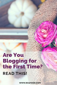 Are You Blogging for the First Time? Read This! Today's Guest bloggers, Denise, share her 5 lessons that she learned in her first year of blogging. Read more at Everything's Coming Up Rosie (www.ecurosie.com)