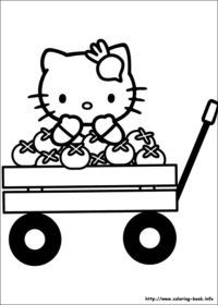 Hello Kitty Coloring Pages Wagon