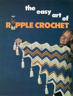 The Easy Art of Ripple Chevron Crochet Booklet Free Us Ship Family Fashion Mrs. Mr Boy Girl Baby Retro Vintage 1973 Bathing Suit Bikini by LanetzLiving on Etsy