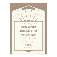 Elegant Art Deco Frame Wedding Invitation design, fully customizable and set as a template for your easy customization. #art #deco #artdeco #art-deco #frame #art #deco #wedding #border #vintage #elegant #stylish #tan #nouveau #nouveau #wedding #elegant #wedding #wedding #invitation #wedding #invites #invite #custom #customizable #template #templates #marriage #ceremony #event #invites #weddings #personalizable #design #invitations #beautiful #chic #classic #beige #retro #20s #twenties