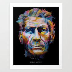 Samuel Beckett Art Print by Gary Reddin - $16.00