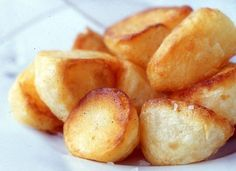 roasted Potatoes, the old traditional English recipe..I do mine around a roast beef or pork