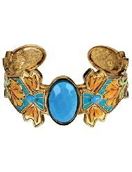 Product Details Cloisonne Lily Bracelet Collectible Jewelry Accessory Bangle Brace 15.89