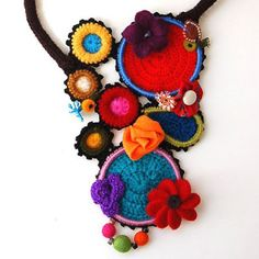 multicolored necklace detail by studiokarma