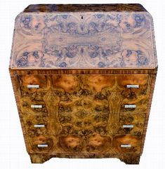 For Sale on - Fabulous Art Deco heavily figured walnut writing Bureau in the most wonderful shape. Not only does this great bureau look impressive but it's very Art Deco Desk, Art Deco Bar, Writing Bureau, Stencils, Art Nouveau, Old Mirrors, Bath And Beyond Coupon, Home Interior, 1930s