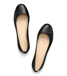 Tory Burch - RUBY BALLET FLAT - BLACK | loving these.
