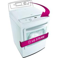 LG Electronics 7.3 cu. ft. Electric Dryer with Steam in White-DLEY1701W at The Home Depot