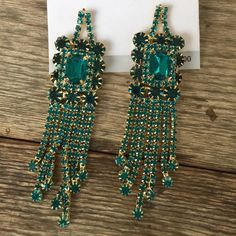 #282 Vintage Collection Earrings Teal colored stone earrings. In time for prom. Vinatge Collection Jewelry Earrings