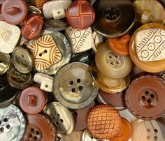 Bulk Buttons Haberdashery Classic Natural Neutral Brown Grey Gray Button Mix Assortment Lot on Etsy, $6.49