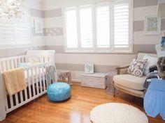 Chambres de bébé, un peu d'inspiration pour les futures mamans - Inspiration gris blanc & bleu